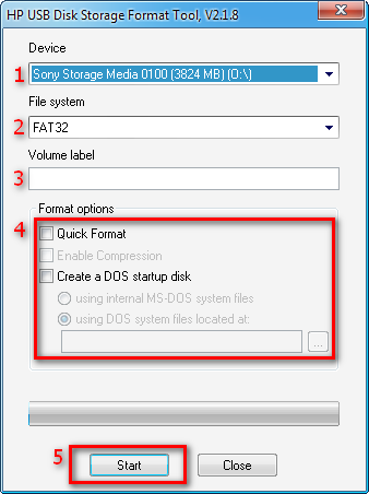 HP USB Storage Format Tool